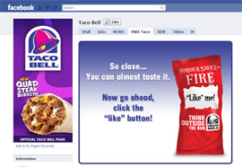 Gratis taco bij 'like' Facebook-pagina Taco Bell