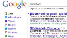 Google: zoekfunctie voor recepten