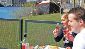 Tijdelijk restaurant en terras voor Tilburgse Piushaven