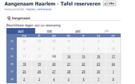 Restauranttafel reserveren via Facebook