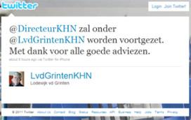 Lodewijk van der Grinten (KHN) wijzigt twitternaam