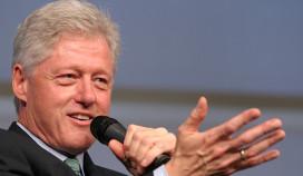 Bill Clinton neemt taart mee uit Amsterdams café