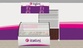 Ambachtelijk Italiaans ijs in shop in shop concept