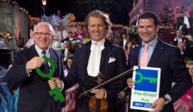 André Rieu geeft Green Key aan Apple Park Hotel