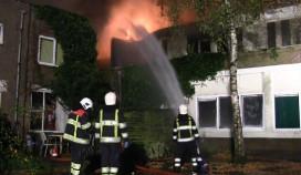 Voormalig Hotel Hamer uitgebrand
