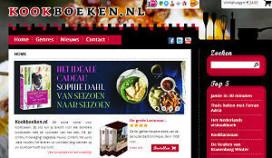 Nieuwe webwinkel voor kookboeken