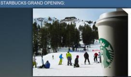 Starbucks opent eerste ski thru
