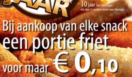 Jubileumactie: een frietje voor tien cent
