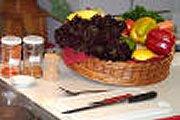 Paprika gevuld met shoarmavlees