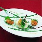 Salade van krab en curry-langoustines