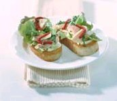 Bruschetta met gemarineerde paling