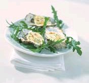 Gegrilde oesters met citroen-korianderroom