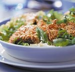 Salade met oesterzwammen