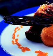 Worteltaart met wortelsorbet