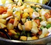 Fruitsalade met Hoegaarden witbier