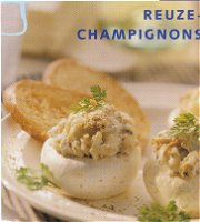 Reuze-champignons gevuld met tonijn