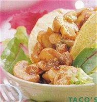 Taco's met pittige champignons