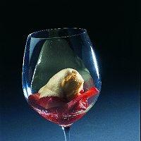 Sabayon met aardbeien en vanille-ijs