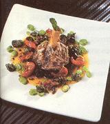 Osso-Buco van lamsschenkel met een vinaigrette van gedroogde tomaten en olijven