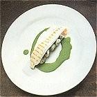Gegrilde zeetongfilet met spinaziegnocchi en spinaziesaus