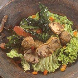 Salade van knapperige paddestoelen (Frans)