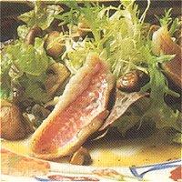 Salade met rode mul (Frans)