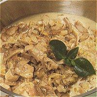 Reepjes kalfsvlees met paddestoelen (Italiaans)
