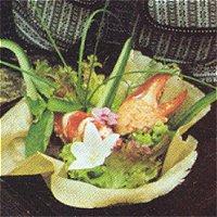 Salade van kreeft met zeeuwse bloemetjesdressing(Frans)