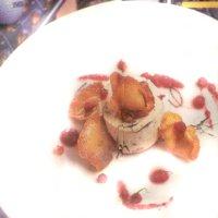 Cheesecake van aardbeien met merveillechips (Iers, bosaardbei)