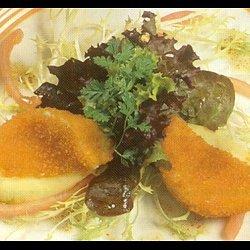 Kleine kaart gerechten/broodgerechten met kaas