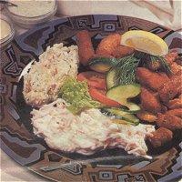 Snacks met zoutwatervis (rond)