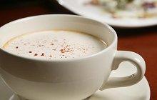 Cappuccino van garnalen