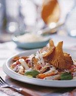 Romige pasta met bleekselderij en oesterzwammen
