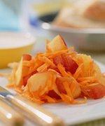 Wortelsalade met perziken