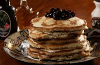 Maple buckwheat pancakes