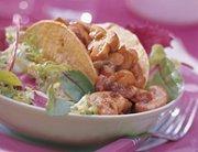 Taco's met pittige champignons en aubergine
