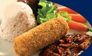 Lamsvleeskroket met risotto en bospeen