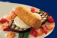 Lamsvleeskroket met mozzarella-salade