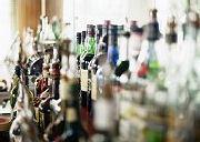 De cocktailbasisvoorraad