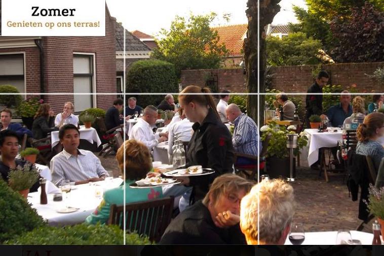 Tante koosje heeft terras van het jaar 2015 in gaultmillau for Lay outs terras van het restaurant