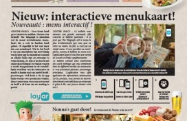 Albron introduceert interactieve menukrant bij Center Parcs