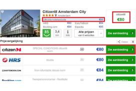 Hotelonderzoek: prijzen januari dalen