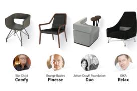 Prototypes stoelen op de Horecava 2014