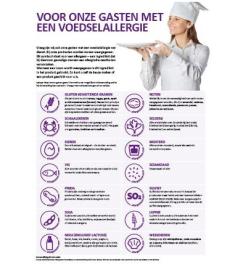 Allergenenstickers met iconen verkrijgbaar