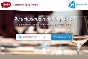 Gratis eten in restaurant bij spaaractie Albert Heijn