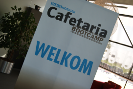 Fotoreportage: drukbezochte Cafetaria Bootcamp