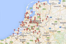 Landkaart Misset Koffie Top 100 2015