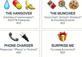 Hotelgasten bestellen roomservice met emoticons op smartphone