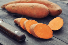 Schatje Patatje: friet van zoete aardappelen