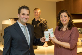 Starbucks koffiecorner voor Hilton The Hague